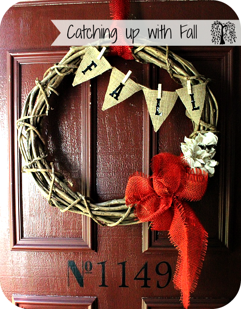 Boho Willow Fall Wreath with Burlap