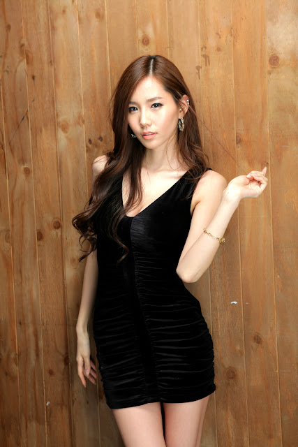 3 Lee Ji Min in Black-very cute asian girl-girlcute4u.blogspot.com