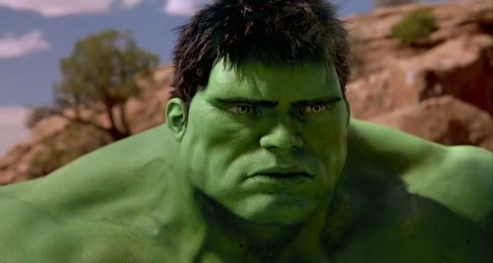 Screen Shot Of Hulk (2003) Dual Audio Movie 300MB small Size PC Movie