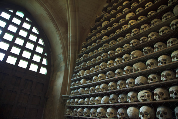 Morbid Anatomy  The Ossuary at St  Leonards Church  Hythe  Kent