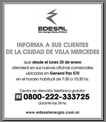 NUEVAS OFICINAS DE EDESAL GRAL. PAZ 570