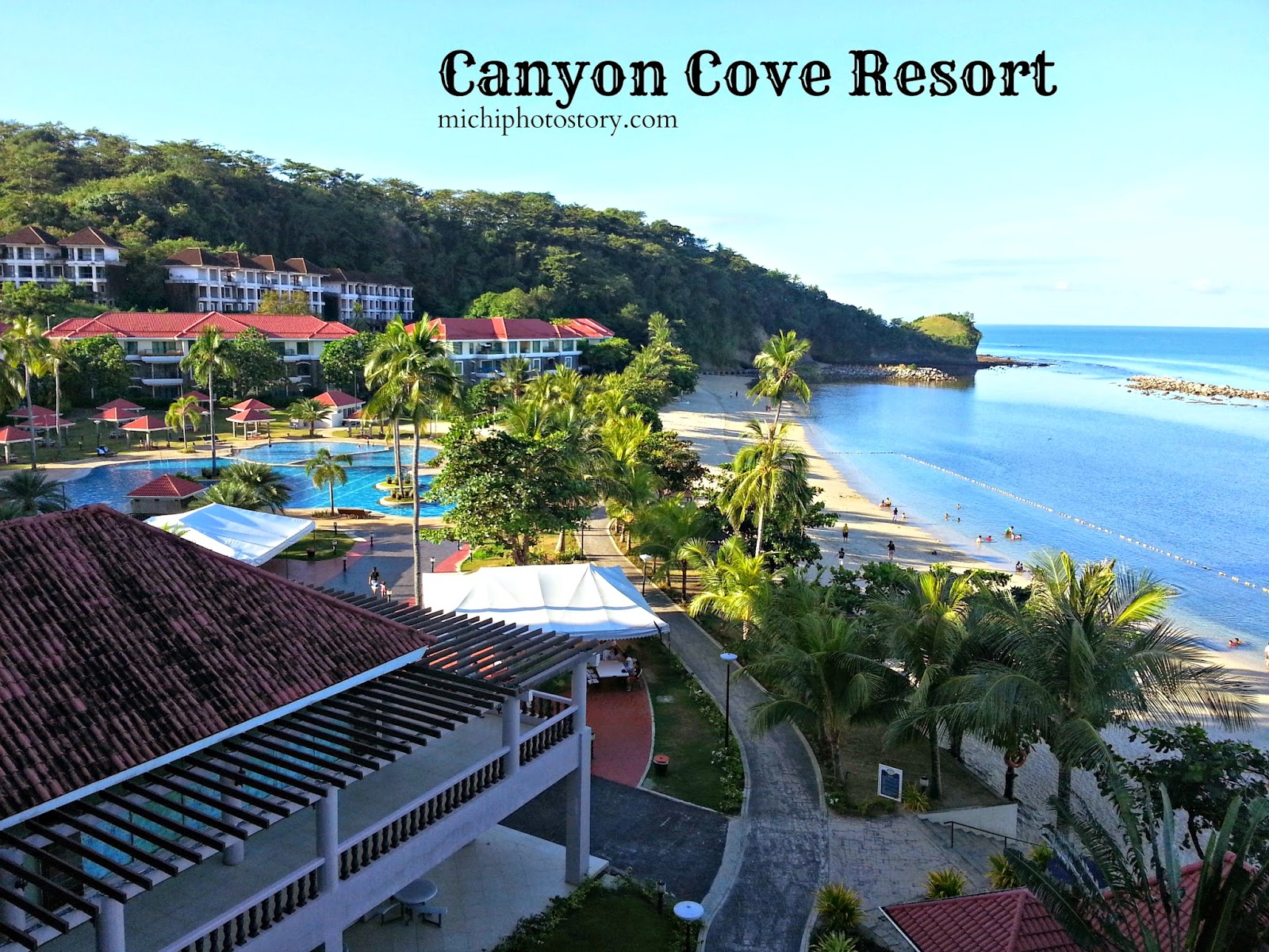 Michi photostory staycation canyon cove for Batangas beach and swimming pool resort
