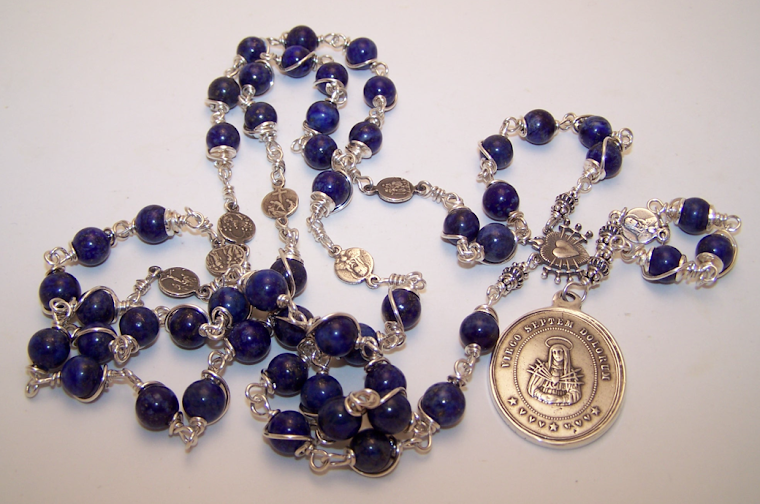 No. 117.  Our Mother Of 7 Sorrows Chaplet Rosary