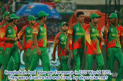 Poor performance by Bangladesh team in ICC world T20