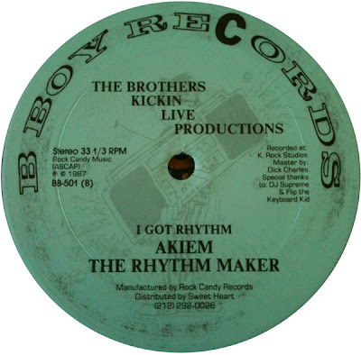 """The Brothers – Kickin Live Productions – 12"""" – 1987"""