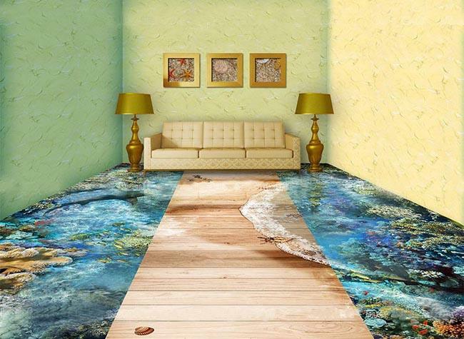 Epoxy Painted 3d Flooring Art And 30 3d Bathroom Floor