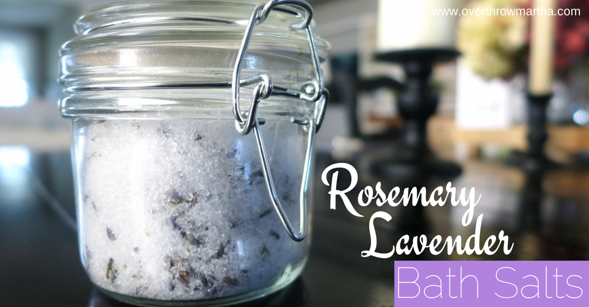 How to make relaxing rosemary and lavender bath salts