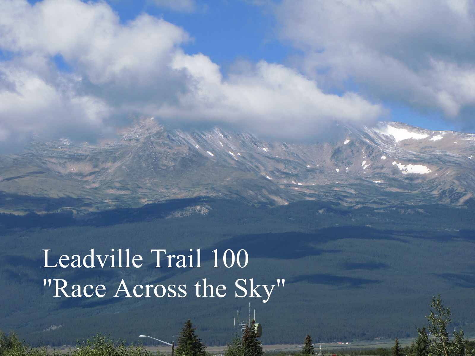 timeless reflections  running man is in leadville