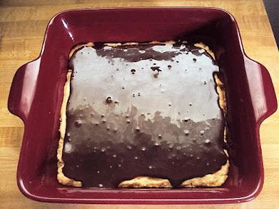 chocolate caramel earthquake shortbread squares; flourmewithlove.com
