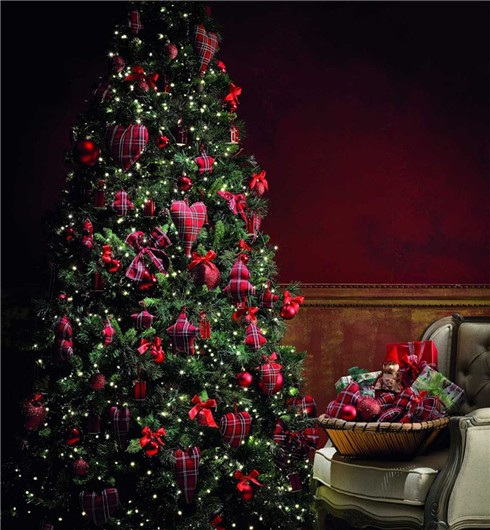 decoración navideña en rojo-árbol de navidad