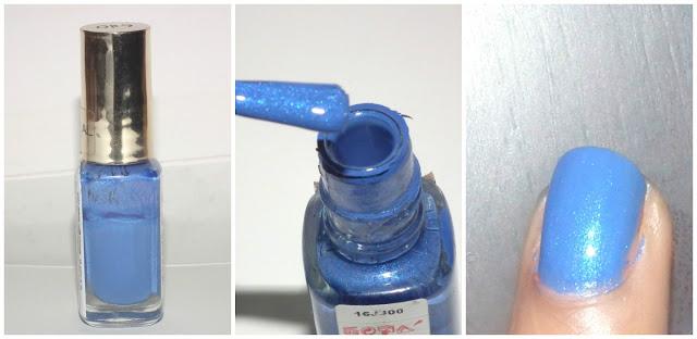A creamy/shimmery bright blue nail paint shade!
