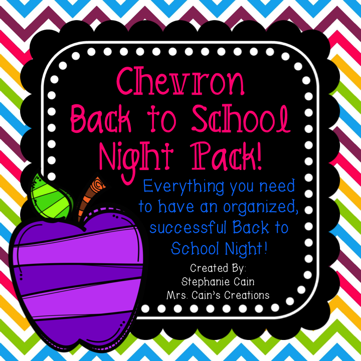 Chevron Back to School Night Pack!