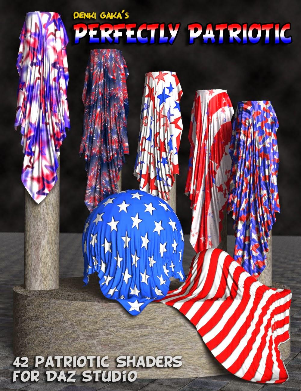 Shaders en tissu parfaitement patriotiques pour DAZ Studio