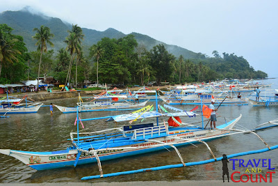 Boats lining up Sabang Port
