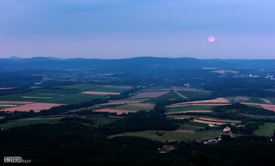 Night panorama of Diósjenő and Rétság