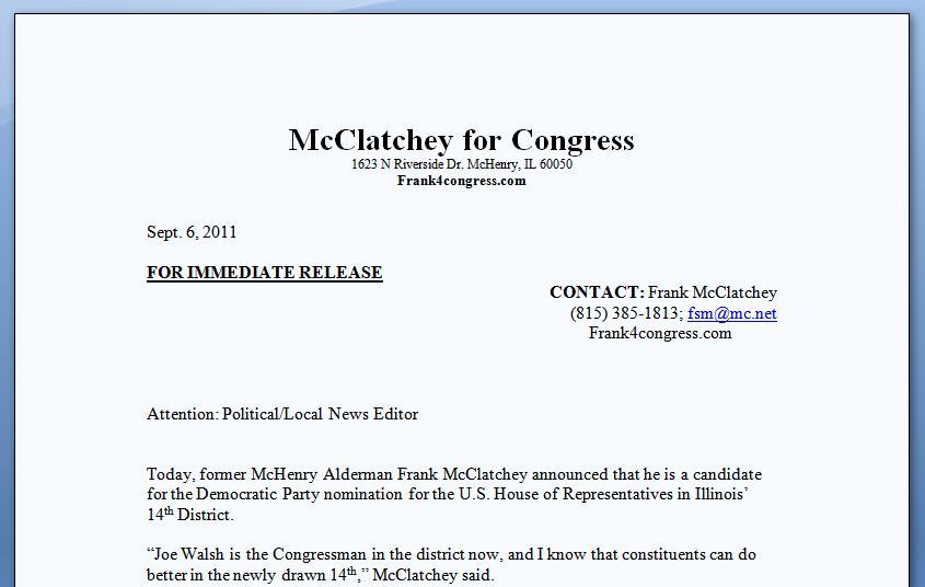 McClatchey Release