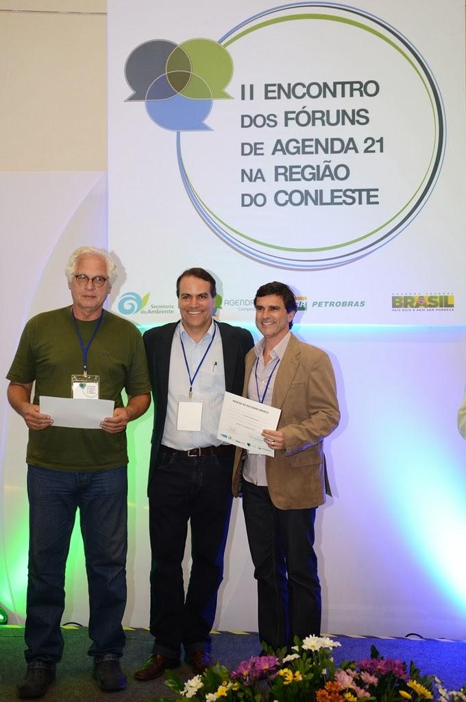 Sergio Tendler, subsecretário Estadual do Ambiente, Luiz Firmino e Leandro Coutinho