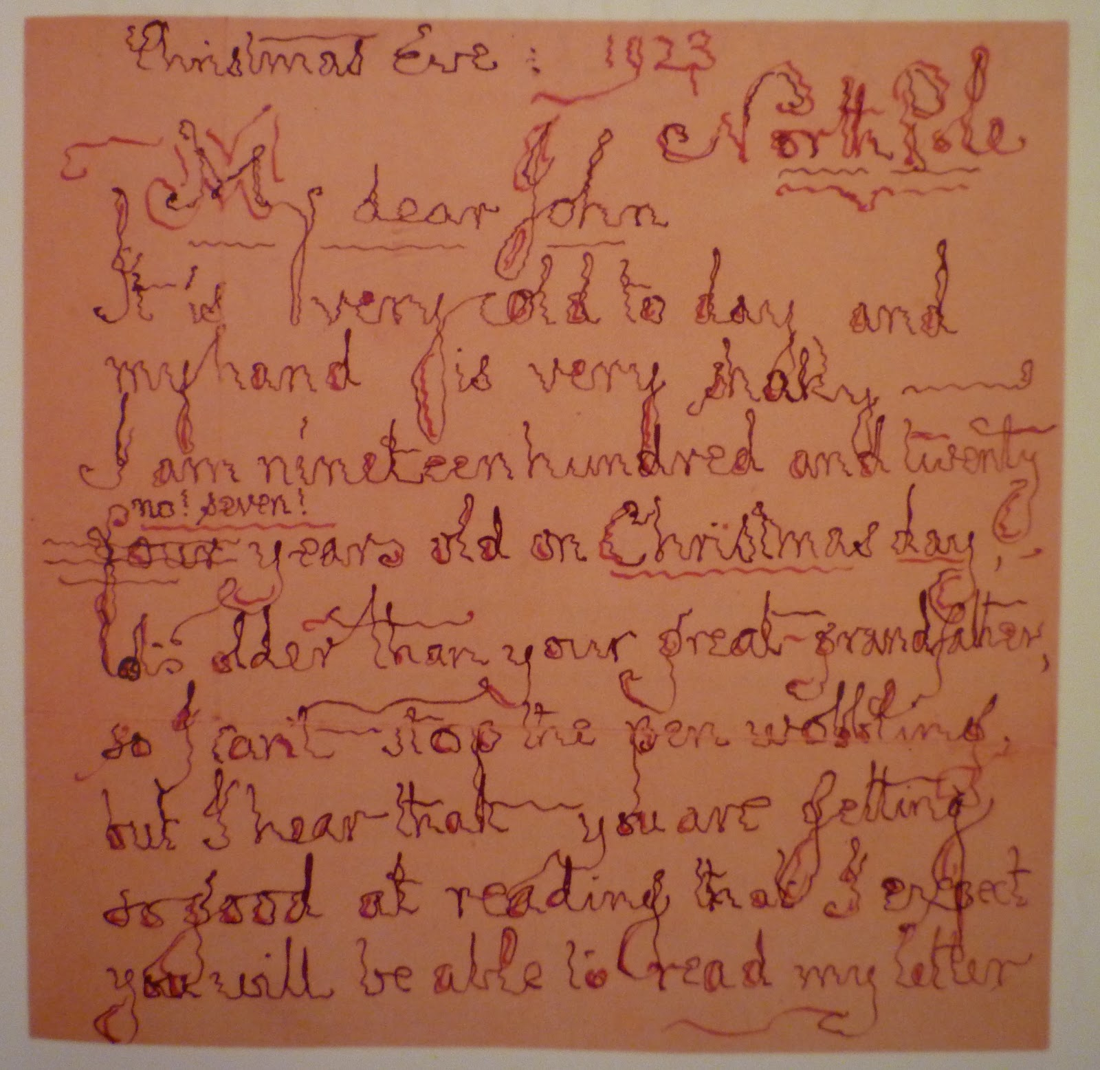 Fresh pot of tea december 2011 like many wonderful childrens books letters from father christmas was written as a series of letters to tolkiens children as if father christmas himself spiritdancerdesigns Choice Image