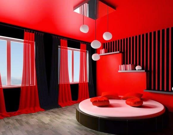 Paduan Warna Merah & Hitam