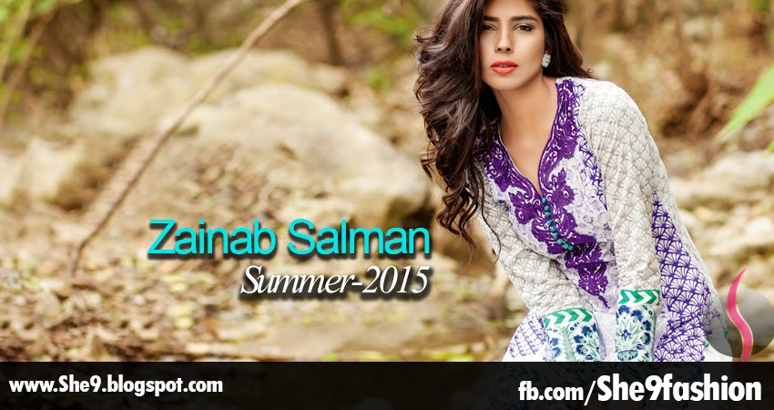 Zainab Salman Lawn Collection for Spring Summer 2015
