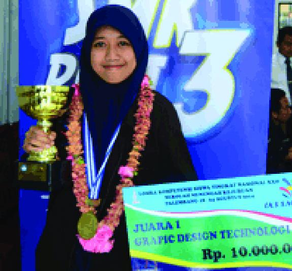 Siswi Asal Malang Ini Wakili Indonesia di Ajang Design Grafis Tingkat Dunia
