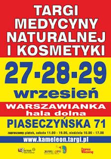 Targi Medycyny Naturalnej i Kosmetyki w Warszawie, 27-29 /09