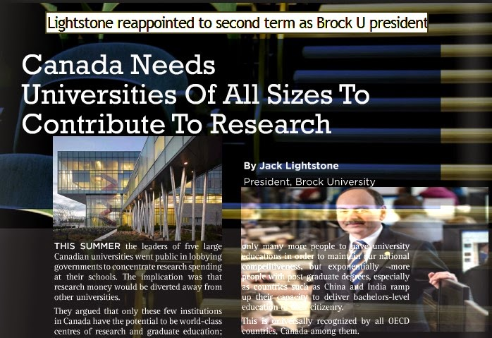 president-brock-university-research
