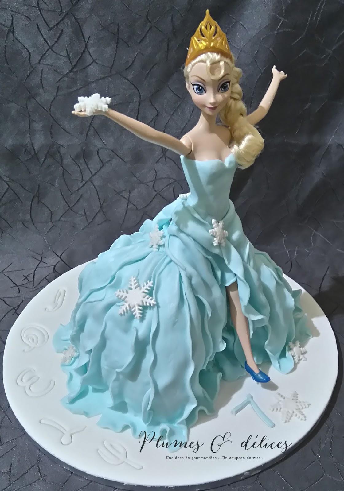 Plumes d lices g teau reine des neiges robe - Robe reine de neige ...