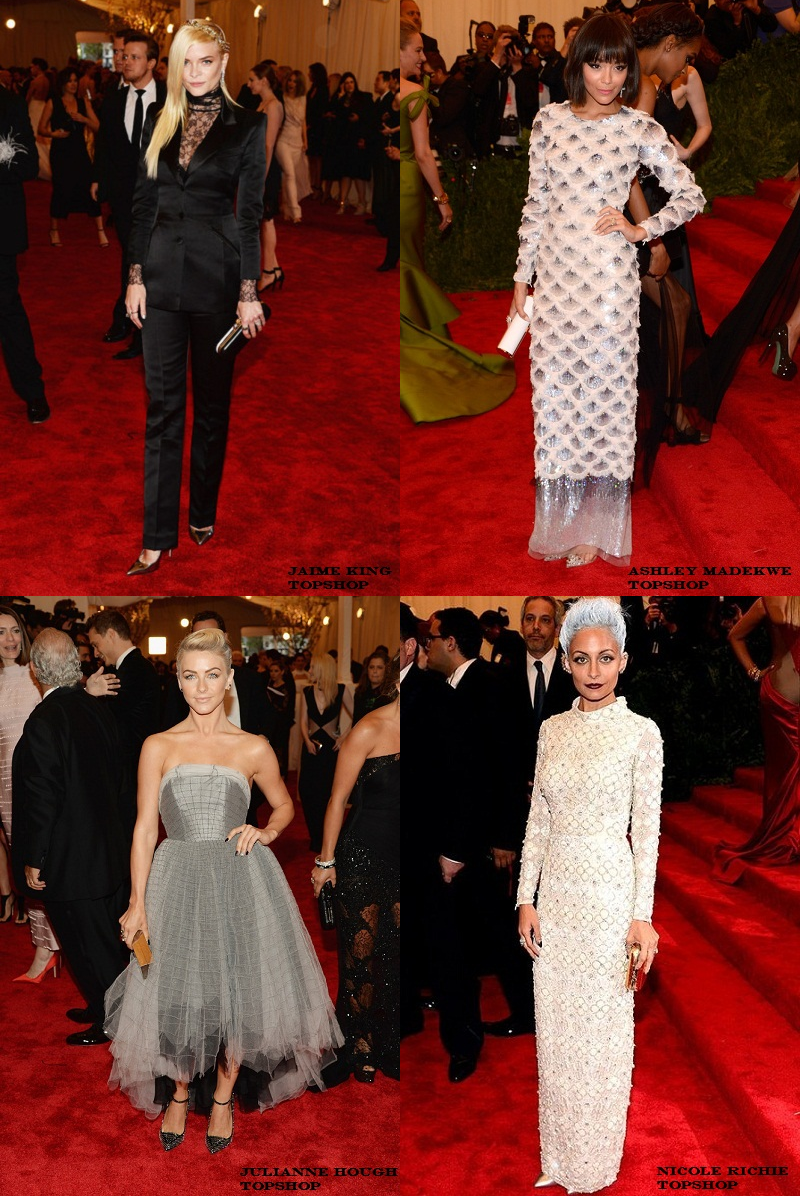 2013 Met Gala, Topshop, Jaime King, Ashley Madekwe, Nicole Richie, Julianne Hough,
