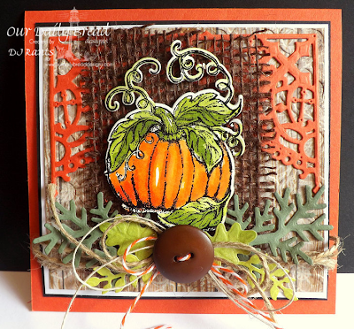 Our Daily Bread Designs, Pumpkin, Custom Decorative Corners, Custom Fancy Foliage Dies, Pumpkin