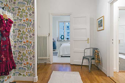 pasillo apartamento sueco