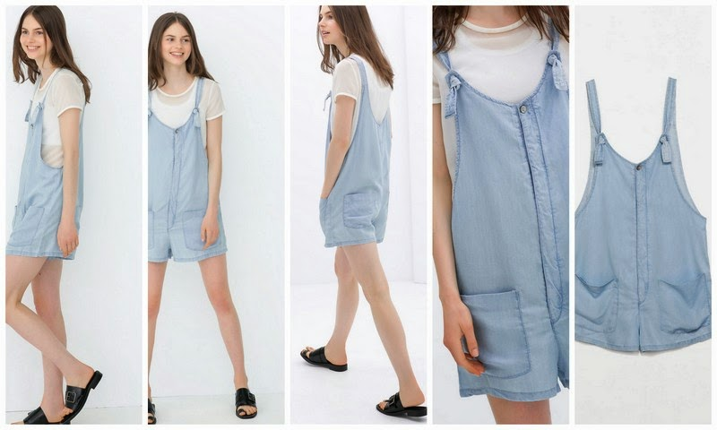 short denim overall