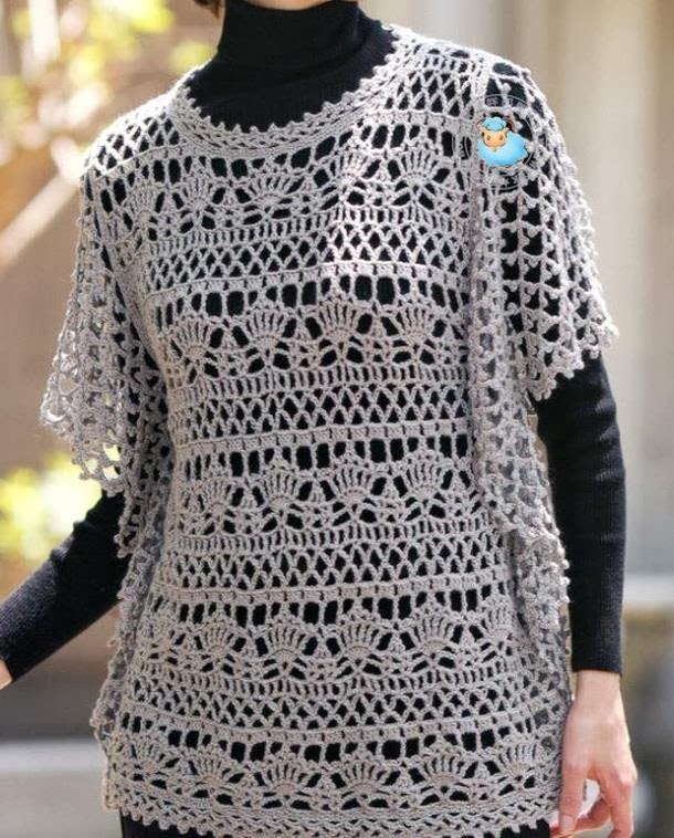 Free Crochet Tunic Pattern For Beginners : Crochet Sweaters: Crochet Pattern OF Wonderful Tunic ...
