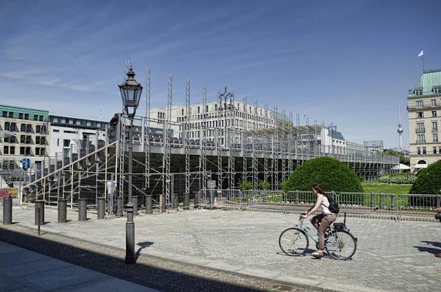 Baustelle Pariser Platz, Aufbau für die Rede von Barack Obama, 10117 Berlin, 17.06.2013