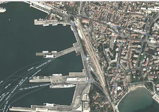 Mapa Split Port Prom na Hvar