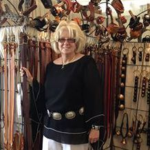 Portrait Photo of American Craftsmen Show Leather Artisan Diane Louise Paul