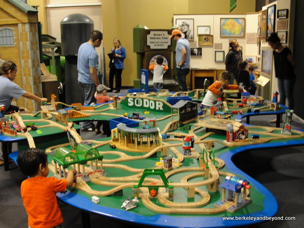 train play at DISCOVERY Children's Museum in Las Vegas, Nevada