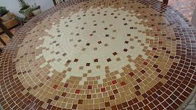 Mesa grande mosaico
