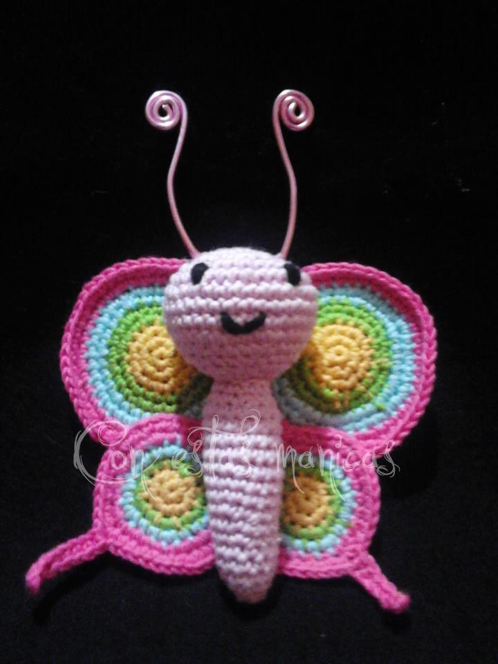 Mariposa amigurumi | Con estas manicas