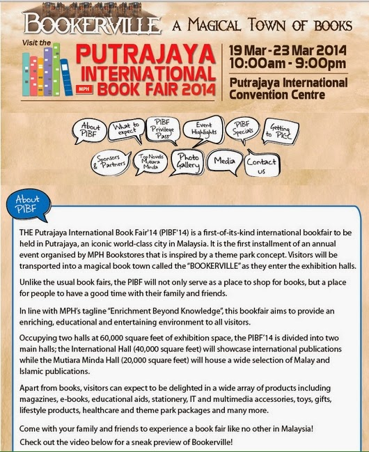 Putrajaya International Book Fair 2014