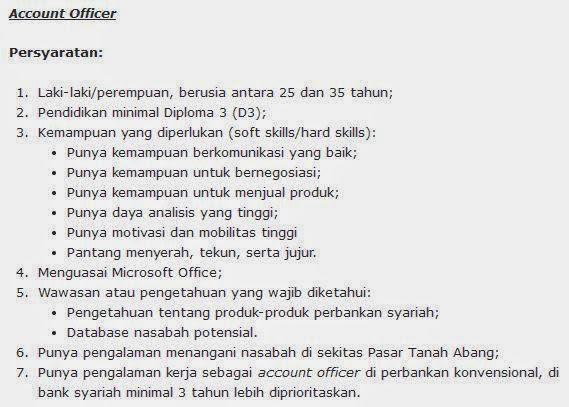 lowongan kerja bank bca syariah agustus 2014 di makassar