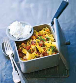 Tagliatelle With Pumpkin, Chilli and Ricotta