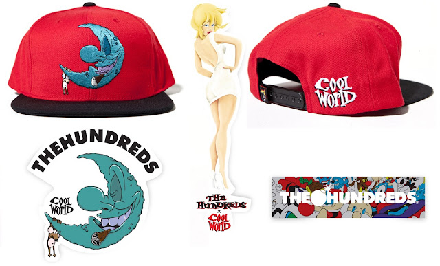 The Hundreds Cool World Collection - Moon Snapback Hat, Basic Holli Sticker, Moon Sticker & Character Sticker