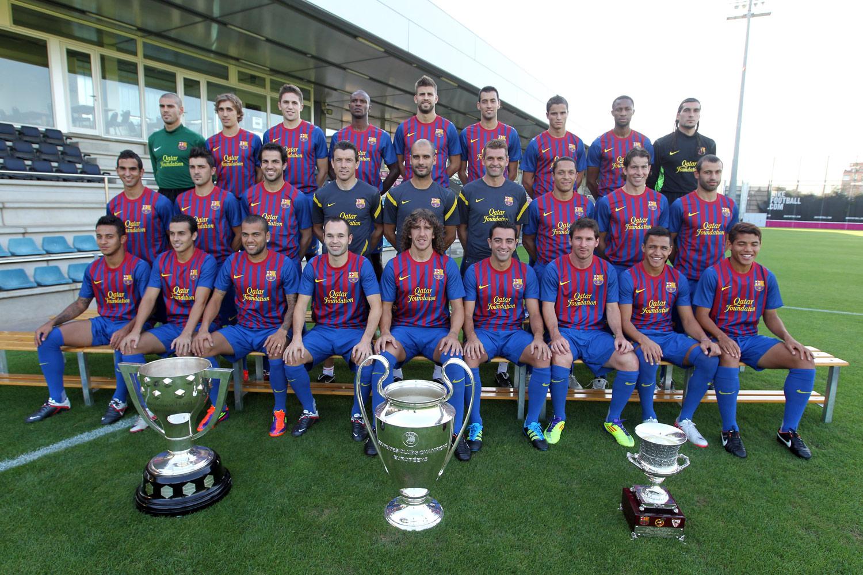berikut adalah pemain-pemain FC Barcelona tahun ini (2012)