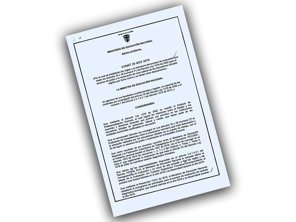 Resolución No. 018407 29 NOV 2018