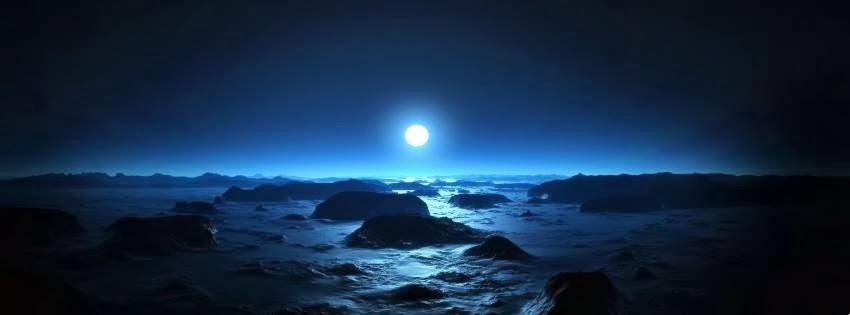 Blue Moon Facebook Timeline HD Cover