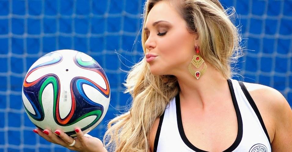 Fernanda Schonardie Representa a Seleção Alemã de Futebol - Belas do Mundial 2014