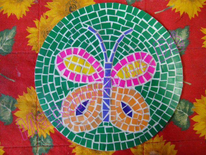 Coisas da liene reciclando cd for Mural de isopor e eva