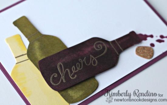 Cheers card by Kimberly Rendino | Newton's Nook | Wine | Kimpletekreativity.blogspot.com
