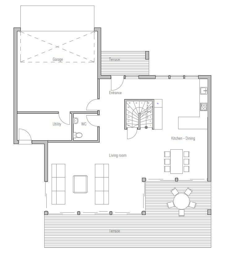 Affordable home plans economical house plan ch171 for Www home plan